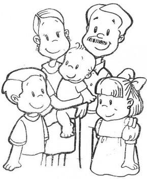 familias para colorear