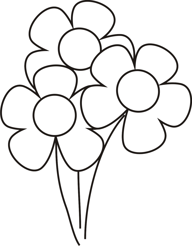 Imágenes de flores para colorear