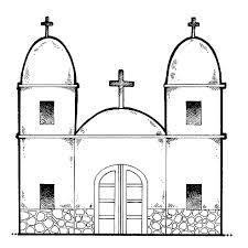 iglesia para colorear
