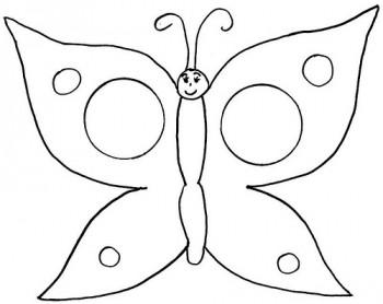 imágenes de mariposa para colorear