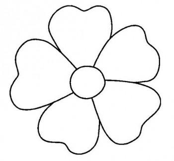 imagen de flor para colorear