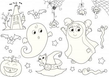 imagenes de halloween para colorear