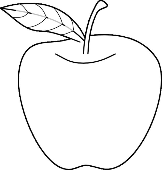 Manzana para colorear