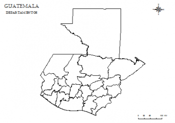 mapa de guatemala para colorear