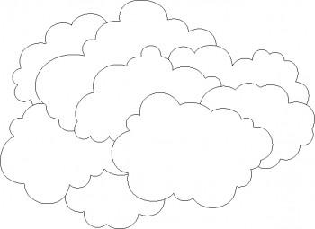 nube para colorear