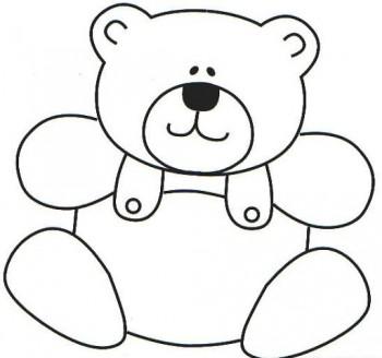 oso para colorear