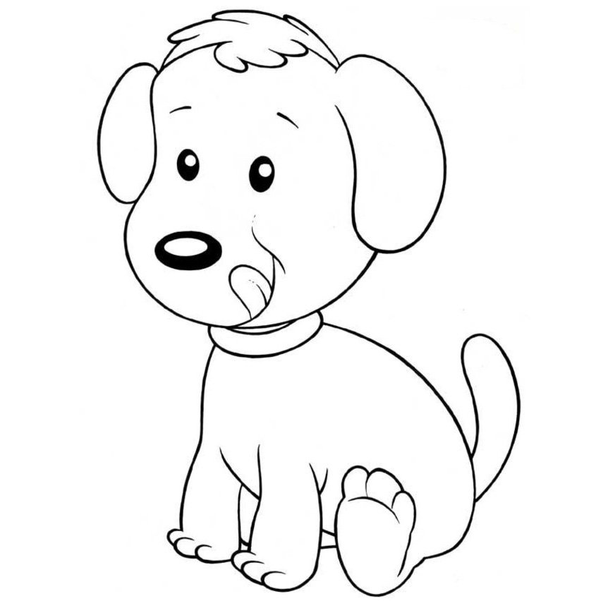 Lindos perritos para pintar