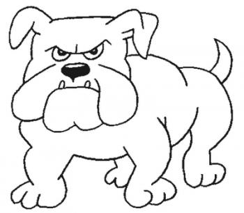 perro para colorear