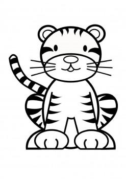 tigre para colorear