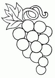 uva para colorear